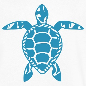 A sea turtle  T-Shirts - Men's V-Neck T-Shirt by Canvas