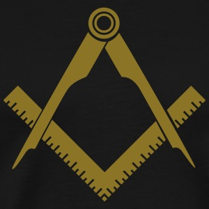 Masonic symbol, squaring the circle, freemason T-Shirts - Men's Premium T-Shirt