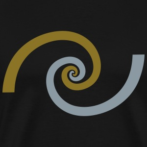 Golden spiral, Fibonacci, Phi, geometry, physics T-Shirts - Men's Premium T-Shirt