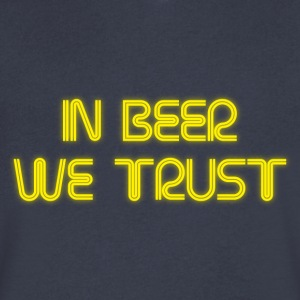 In beer we trust T-Shirts - Men's V-Neck T-Shirt by Canvas