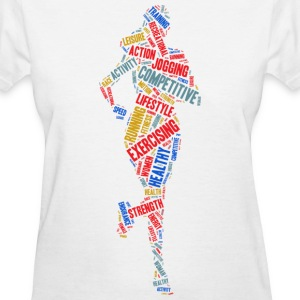 Running girl Women's T-Shirts - Women's T-Shirt