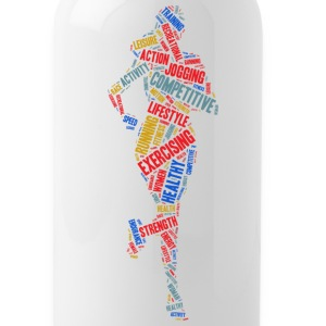 Running girl Bottles & Mugs - Water Bottle