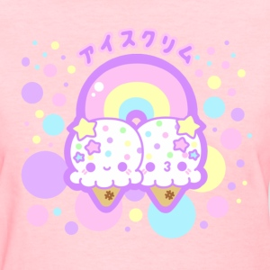 Rainbow Ice Cream Clouds  - Women's T-Shirt