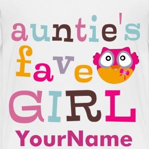 Auntie's favorite girl Baby & Toddler Shirts - Toddler Premium T-Shirt