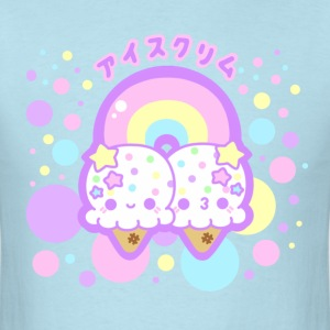 Rainbow Ice Cream Clouds  - Men's T-Shirt