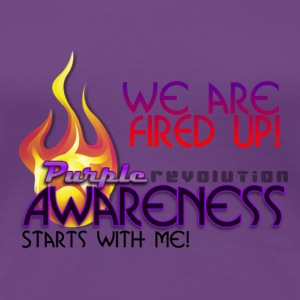 Purple Awareness Fired Up! Women's T-Shirts - Women's Premium T-Shirt