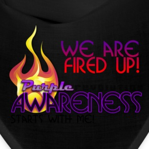 Purple Awareness Fired Up! Caps - Bandana