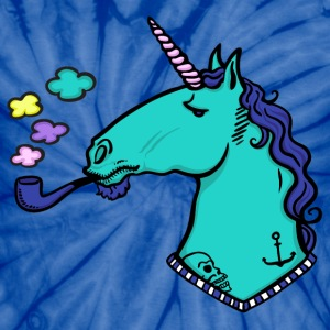 smoking unicorn T-Shirts - Unisex Tie Dye T-Shirt