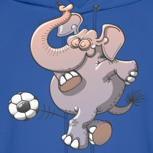 Elephant Kicking a Ball Hoodies - Men's Hoodie