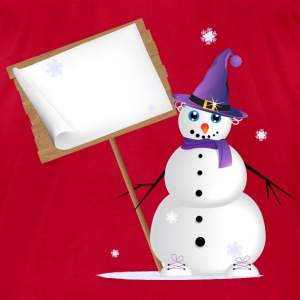 Snowman T-Shirts - Men's T-Shirt by American Apparel