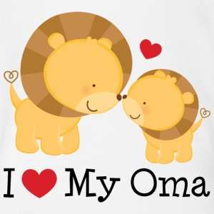 I Love My Oma (lions) Baby & Toddler Shirts - Short Sleeve Baby Bodysuit
