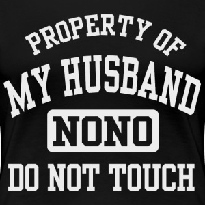 Property of my Husband (White) Women's T-Shirts - Women's Premium T-Shirt