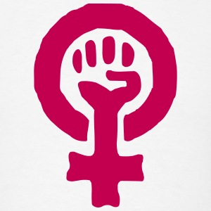 Feminism Power Symbol T-Shirts - Men's T-Shirt