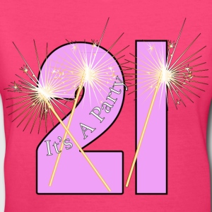 21st It's A Party - Women's V-Neck T-Shirt