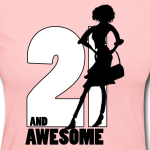 21 and Awesome - Women's Long Sleeve Jersey T-Shirt