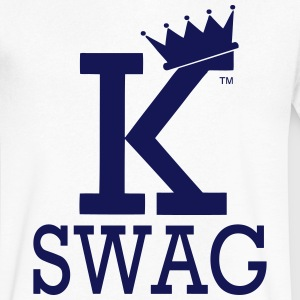 KING OF SWAG T-Shirts - Men's V-Neck T-Shirt by Canvas