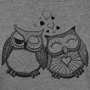 owls in love  Long Sleeve Shirts - Women's Wideneck Sweatshirt