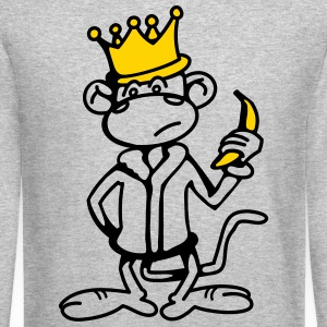 Monkey King with Banana and Crown Long Sleeve Shirts - Crewneck Sweatshirt