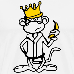 Monkey King with Banana and Crown T-Shirts - Men's Premium T-Shirt