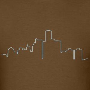 Detroit Skyline - Men's T-Shirt