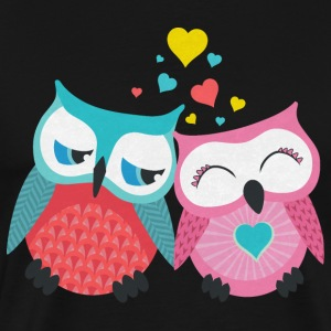 owls in love  T-Shirts - Men's Premium T-Shirt