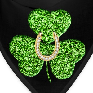 Shamrock And Horseshoe Bandana - Bandana