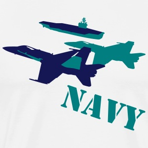 NAVY aircraft T-Shirts - Men's Premium T-Shirt