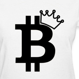 Ladies Bitcoin Queen Logo T Shirt - Women's T-Shirt