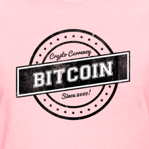Ladies Bitcoin Label Logo T Shirt - Women's T-Shirt