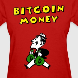 Ladies Retro Bitcoin Money T Shirt - Women's T-Shirt