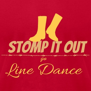 Line dance - Stomp it out T-Shirts - Men's T-Shirt by American Apparel