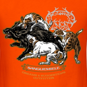 wild_boar_and_hounds T-Shirts - Men's T-Shirt