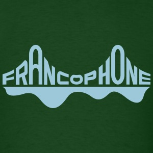 Francophone men's_forest/sky - Men's T-Shirt