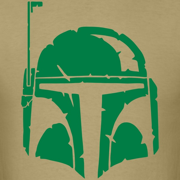 Boba Fett Helmet Worn - Men's T-Shirt