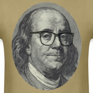 Hipster Ben Franklin T-Shirts - Men's T-Shirt