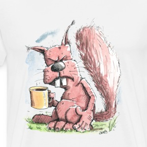 Monday Morning Squirrel T-Shirts - Men's Premium T-Shirt