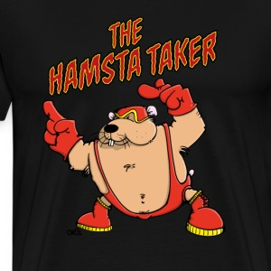 The Hamsta Taker - Hamster Wrestling T-Shirts - Men's Premium T-Shirt
