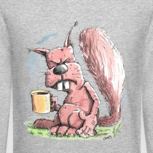 Monday Morning Squirrel Long Sleeve Shirts - Crewneck Sweatshirt