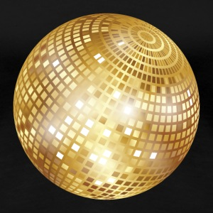 Disco Ball / Mirror Ball (Gold, PNG) T-Shirt - Women's Premium T-Shirt