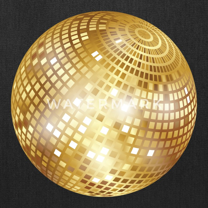 Disco Ball / Mirror Ball Glitter (Gold, PNG) Tote Bag ...