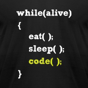 A programmer Life - Men's T-Shirt by American Apparel