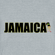 Design ~ Mens Yellow Outline Jamaica T-shirt