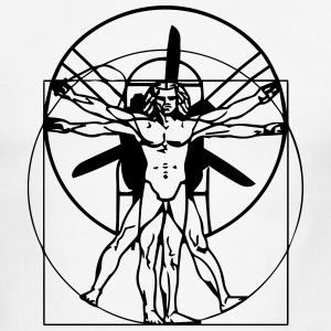 vitruvian PPG man. Short Arm - Men's Ringer T-Shirt