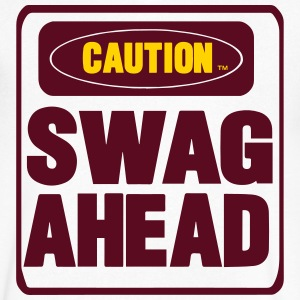 CAUTION SWAG AHEAD T-Shirts - Men's V-Neck T-Shirt by Canvas
