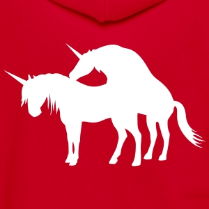 Unicorns Make Love Zip Hoodies & Jackets - Unisex Fleece Zip Hoodie by American Apparel