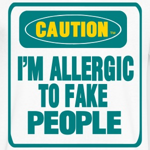CAUTION I'M ALLERGIC TO FAKE PEOPLE T-Shirts - Men's V-Neck T-Shirt by Canvas