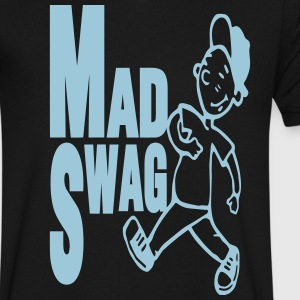 MAD SWAG T-Shirts - Men's V-Neck T-Shirt by Canvas