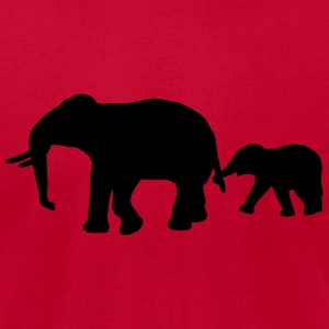 African Indian elephants zoological gardens ivory  T-Shirts - Men's T-Shirt by American Apparel