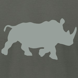 rhino black rhinoceros zoological gardens african T-Shirts - Men's T-Shirt by American Apparel