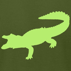 crocodiles alligator dinosaurs giant lizard danger T-Shirts - Men's T-Shirt by American Apparel